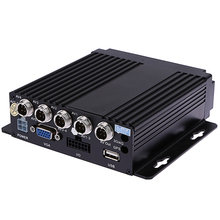 SW-0001A Car RV Mobile HD 4CH DVR Realtime Video/Audio Recorder SD with VGA Remote Control for Bus Truck Vehicles