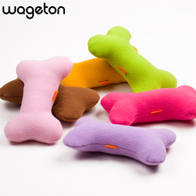 Bone Pillow Toy BB Sound Plush Pet Dogs Cats Vocalization Toys Accessories Products For Puppy And Kittens(China)