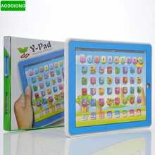 Baby Spanish Learning Machine Electronic Touch Tablet Toys Pad Spanish Learning Education Machine for Children Kids Laptop Pad(China)