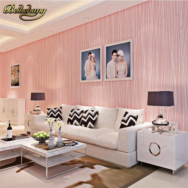 beibehang papel de parede. Modern wallpaper stripe non-woven wall paper glitter background wallpaper striped for living room<br>