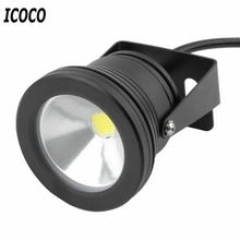 ICOCO 1pc Case 10W Rainproof LED Flood Light Lamp Wash Pool Waterproof Light Spot Lamp 12V Outdoor LED Spotlight Floodlight(China)