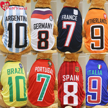 Big Dog Shirt World Cup Soccer Jersey large size Pet Vest Football National Team Sports Wear NBA  Large Dogs Breathable XXL-6XL