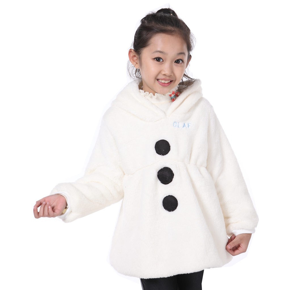 New Hot Sale Girl Olaf Jacket Children Cartoon Hoodies Kids Snowman Coats Winter Jackets Outerwear Clothes Casual Costume<br>