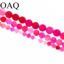 4-14mm Pink Nature Stone Carnelian Frost Beads Cracked Dream Fire Dragon Veins Beads jewelry making Onyx beads Necklace