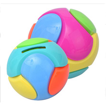 Ceative Lovely Football Bank Saving Coin Money Tin Ball Boxes Saving Pot For Children Gift Randomly Color(China)
