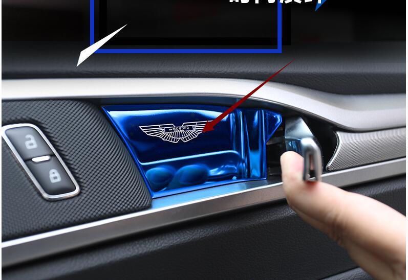 Carbon Fiber Interior Handle Bowl Cover Trim For Ford Fusion Mondeo 2013-2018