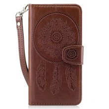 Hazy beauty For Huawei P8 lite Case Cover New Luxury Printed Brown Leather Flip Wallet Case Cover For Huawei P8 lite Cover(China)