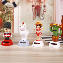 Car-Styling Solar Powered Dancing Shaking Head Cartoon Animal Automobile Car Dashboard Decoration Ornament Cute Car Accessories(China)