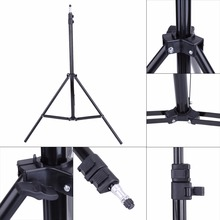 Photo 2M Light Stand Tripod With 1/4 Screw Head For Photo Studio Video Flash Umbrellas Reflector Lighting