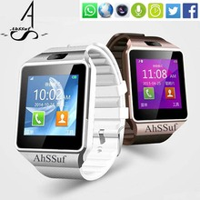 AhSSuf Wrist Watch Cell Phone Relogio Celular Android Em Portugues Interactive Wrist Smartwatches Con sim Watch Cell Camera DZ09