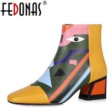 781467d71 FEDONAS marca de moda las mujeres tobillo botas para la nieve caliente tacones  altos Martin zapatos