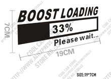 3 Pieces Turbo BOOST LOADING Car Stickers for Volkswagen Scirocco Golf 6 VW Scirocco CC Tiguan POLO Car styling