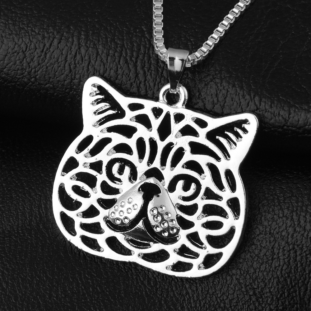 103-28x25mm,Exotic Shorthair cat Necklace