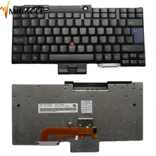 Laptop keyboard For IBM for Lenovo T400 R400 T500 W700 replacement notebook UI US English with red pointing black color