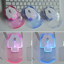 2.4G Wireless Mouse Silent Gamer Transparent LED Ultra-thin 1000DPI Glow in the Dark Gaming Mice for Notebook Desktop Compu