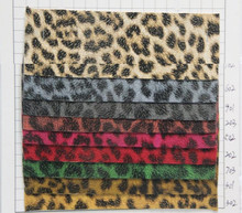 leather for handbag, shoes, sofa Green leopard leather factory wholesale artificial PU leather fabric animal skin pattern