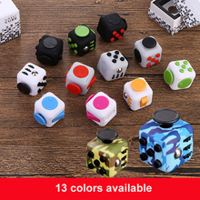 New Popular Mini Fidget Cube Squeeze Fun Stress Reliever Vinyl Desk Finger Toys Antistress Cubo Spin Flip  3.3cm