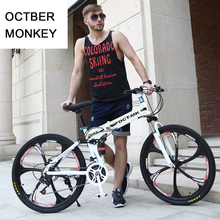 Russian wholesale and warehouse Top quality 26 Inch folding mountain bike 21 Speed Double Disc Brake complete bicycle