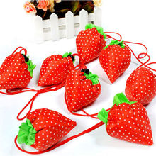 Women bag Eco Storage Handbag Strawberry Foldable Shopping Bags Beautiful Reusable BagHigh Quality Hot Selling