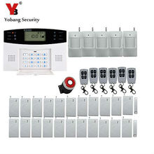 Yobang Security Wireless GSM Alarm System Touch Screen Intelligent Burglar Security Home Alarm System with pir detector(China)