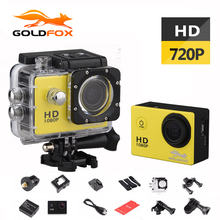 GOLDFOX 1.5 inch Screen 720P HD Sport Action Camera 30M Go Waterproof Outdoor Sport DV Bike Car Dvr Cam pro