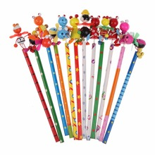 2017 Hot Sale Cute 22.5cm Animal Design Wooden Windmill Pencil Children Creative Toy