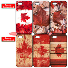 Canadian Canada Flag Printed Cover Case for iPhone 4 4S 5 5S SE 5C 6 6S 7 8 Plus X iPod Touch 5 LG G2 G3 G4 G5 G6(China)