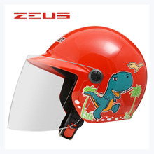 2017 new child ZEUS ZS-201 half face motorcycle children helmet , pink red blue yellow motorbike moto motocross kids helmets