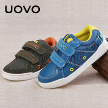 UOVO 2017 Children Shoes Double Hoop-and-loop straps Kids Boys Shoes Fabric Suede Casual Sneakers Brand Footwears for Boys