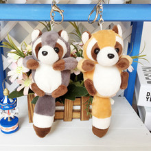 1pc 10cm Small Cute Raccoon Plush Bag Pendant Kawaii Staffed Raccoon Animal Plush Key Chains Baby Children Doll Birthday Gift