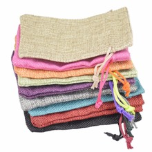 Jute Bag Drawstring burlap bags Gift Candy Beads Bags for Handmade Soap Storage/ Wedding Decor 100pcs 9.5*13cm 15colors Can Pick