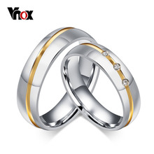 Vnox Wedding Rings for Women / Men 316l Stainless Steel Jewelry for 1 piece