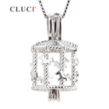 Buy CLUCI Cute Carousel Cage pearl pendant, sterling silver jewelry accessory, fine jewelry merry-go-round charms women/girls for $9.31 in AliExpress store