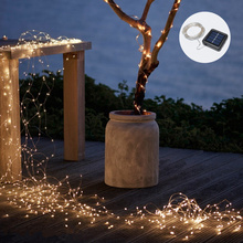 10 Meters Waterproof Solar LED Light String 8 Kinds Of Flashing Function Copper String Lights Christmas Lights Outdoor Lighting