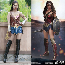 2017 Batman v Superman Dawn of Justice League Wonder Woman Costume Cosplay Woman's Superhero Diana Prince Halloween(China)