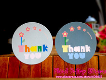 600pcs Glossy Laminated Paper Circle Thank You Seal Sticker Gift Present Point Sticker For Party Favor Gift Bag Candy Box Decor