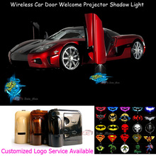 2x Teenage Mutant Ninja Turtles TMNT Logo Wireless Car Door Courtesy Welcome Laser Projector Ghost Shadow Puddle LED Light