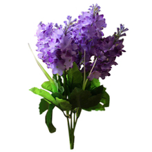 Silk cloth 5 Heads Artificial Flowers Handmade Wedding Decoration Wall Mounted Decorative Flowers(purple) flower head