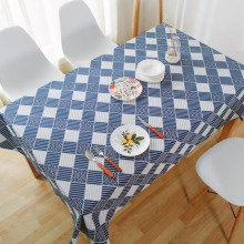 VintageStyle Blue Canvas Table Cloth Cover Home Hotel Cafe House Party Home Decro 9 size for choose