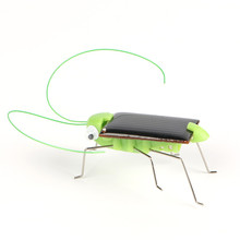 Mini Novelty Kid Solar Energy Powered Spider Power Robot Bug Grasshopper Educational Gadget Toy For Children(China)