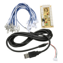 New Arcade Zero Delay USB Encoder to PC Joystick and Button For MAME & Fight Stick Controls DIY Arcade Game Kit Parts