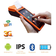 Free Shipping!SM-V1 Android 3G pos system 5.5 inch display Mobile Handheld Smart POS Terminal with Printer
