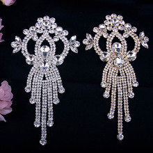 Cusack Cute Fish Shape Crystal Rhinestones Trims Applique for Wedding Dress /Garment /Bags /Hats Trimmings Sewing Crafts
