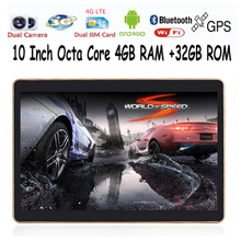 Free shipping 10'' Tablet PC Octa core 4GB ROM Wifi OTG 3G 4G LTE Mini android 5.1 Tablet Laptop tablets GPS Pad tablet pcs