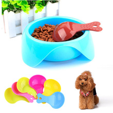 2 PCS Color Ramdom Pet Supplies Small Solid Cat Puppy Food Spoon Dog Feeder Shovel Resin PlasticPet Supplies