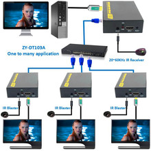 ZY-DT103A 492ft HDMI Splitter LAN Extender With IR Over TCP IP 1080P HDMI Ethernet Extensor 150m via CAT5 CAT5e CAT6 Rj45 Cable(China)