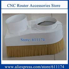 Half Open type Dust brush Dust collector Cover 70mm/75mm/90mm wood cnc spindle motor dust collector device(China)