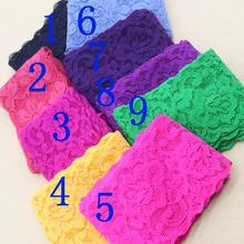 Elastic lace 5.5cm width with lace or multicolor decorative fabric warp knitted garment accessories DIY