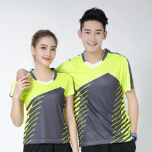 Women/Men running table tennis clothes team game training Gym exercise T Shirts Quick Dry breathable badminton shirt,