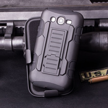 Armor Impact Holster Case for coque Samsung Galaxy S3 Case Cover i9300 for coque Samsung S3 Case + Belt Clip Holster(China)